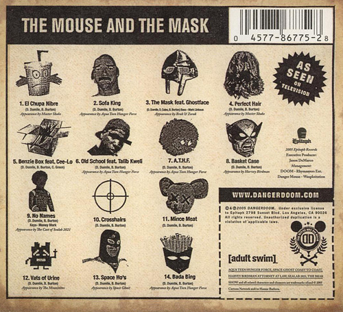 Dangerdoom: The Mouse and the Mask Back