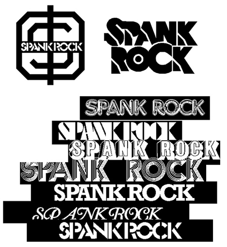 Brent Rollins - Spank Rock early logo designs