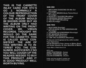 XTC: Go 2 Cassette