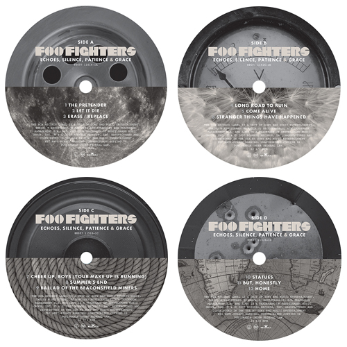 Foo Fighters: Echoes, Silence, Patience & Grace Vinyl Labels