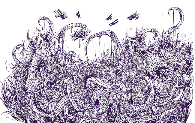Gallows: Abandon Ship Line Art