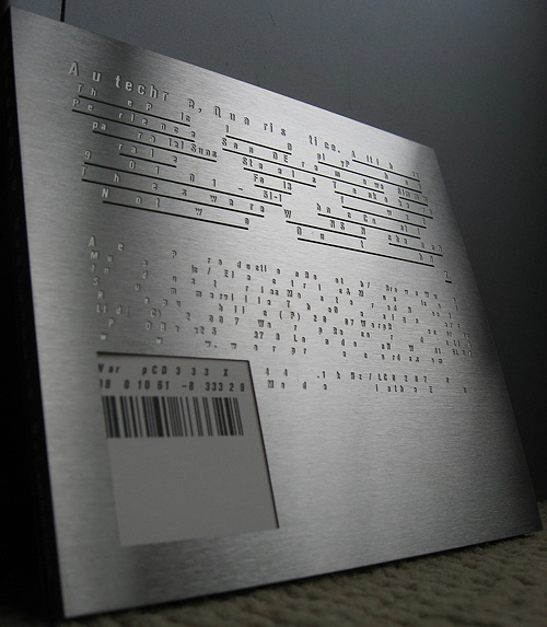 Autechre: Quaristice Limited Edition steel