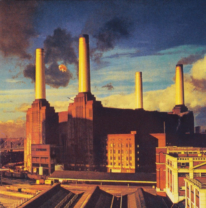 The dramatic industrial setting for Pink Floyd's The